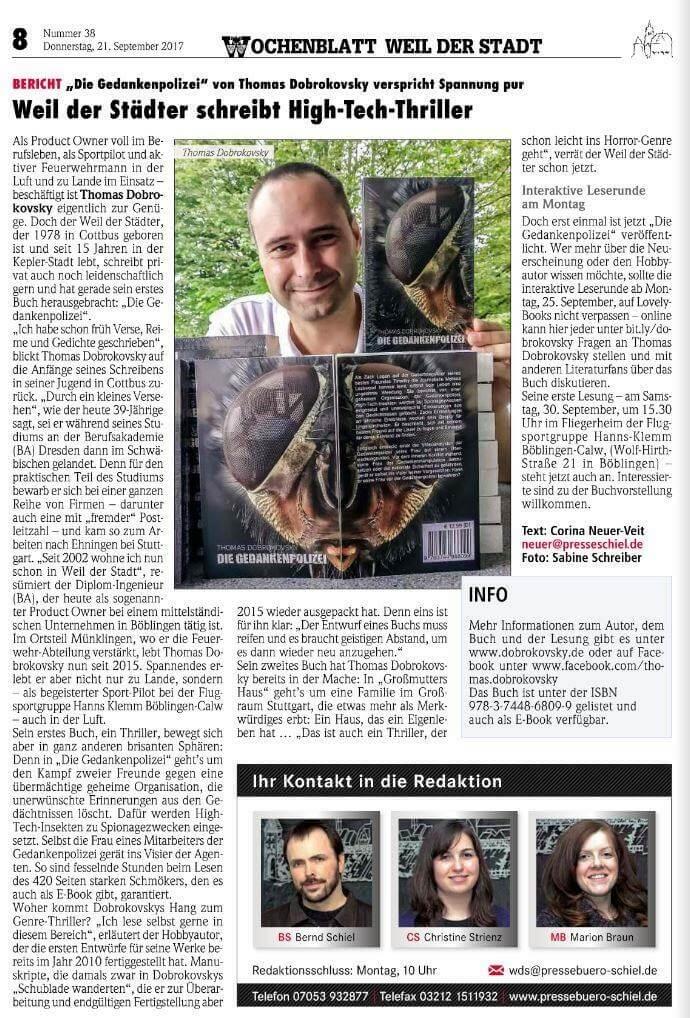 Wochenblatt Weil der Stadt