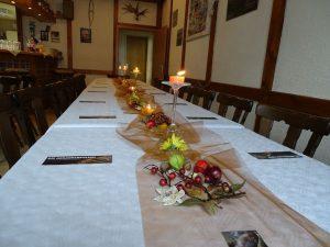 Gästetafel für die Lesung am 30.09.2017